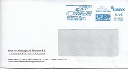 Enveloppe D'Espagne Vers La Belgique - Affranchissement Machine - Cibeles Mailing - 1931-Aujourd'hui: II. République - ....Juan Carlos I