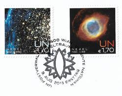 2013 UNO Wien Mi. 788-9 FD-used Briefstück . Internationale Weltraumwoche: Nebel. - Vienna – International Centre