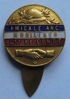 Broche Amicale Anc. Mobilisés Cne De Condé Casque Adrian Poignée De Mains Diam. 23 Mm (anciens Combattants) H Bargas - Francia