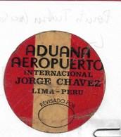 Autocollant De La Douane Apposé Sur Les Bagages à L'aéroport De Lima (Perou) - Autocollants