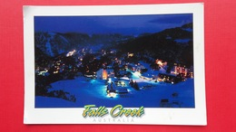 Falls Creek.Evening Lights.Butterfly Stamp - Australia