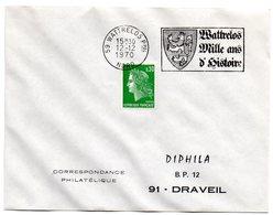 HERALDIQUE = 59 WATTRELOS 1970 = FLAMME Codée = SECAP  Illustrée D' ARMOIRIES  ' MILLE ANS D'HISTOIRE ' - Marcophilie (Lettres)