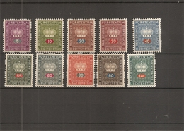 Liechtenstein ( Service 35/44 XXX -MNH) - Official