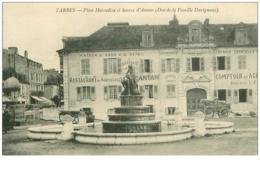65.TARBES.N°12763.PLACE MARCADIEU ET SOURCE D'AMOUR.DON DE LA FAMILLE DUVIGNAUX.RESTAURANT DES AGRICULTEURS - Tarbes