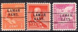 USA Precancel Vorausentwertung Preo, Locals Kansas, Lamar 745, 3 Diff. - Vereinigte Staaten
