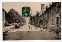 - CPA VAILLY (18) - La Place, Côté Sud 1912 (avec Personnages) - Edition Maquaire N° 1 - - Autres Communes