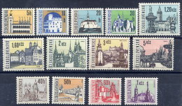 CZECHOSLOVAKIA 1965-66 Definitive Set Of 13 Values MNH / **.  Michel 1574-82, 1657-60 - Ungebraucht