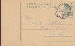 Yugoslavia Postal Stationery Ganzsache Entier Strassen-unterführung LJUBLJANA 1961 Hotel Namos IDRIJA (2 Scans) - Postal Stationery