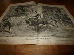 1882 JDV:  Gravure Sur Double-page-->La Saint-Jean à TARIFA (Espagne); Les Voyages De La JUNON (Les îles Madère) ;   Etc - Kranten