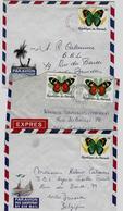 BURUNDI 962C/62H(incomplet) Op Brief Getand En Ongetand - Sur Lettre - 1980-89: Oblitérés