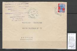 Algerie - Lettre  - Cachet Hexagonal ERRAGUENE SAS - Bougie - Marcophilie - Algeria (1924-1962)