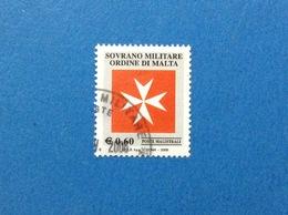2005 SOVRANO ORDINE MILITARE DI MALTA FRANCOBOLLO USATO STAMP USED SMOM 0,60 CROCE OTTAGONA - - Sovrano Militare Ordine Di Malta