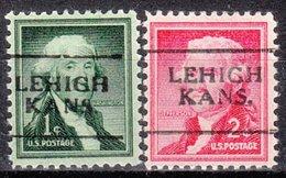 USA Precancel Vorausentwertung Preo, Locals Kansas, Lehigh 701, 2 Diff. - Vereinigte Staaten