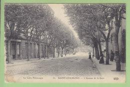 SAINT CHAMOND : L'Avenue De La Gare. 2 Scans. Edition ELD - Saint Chamond