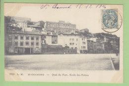 SAINT CHAMOND : Quai Du Fort, Ecole Des Frères. 2 Scans. Edition L Morel - Saint Chamond