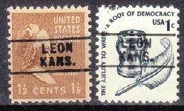 USA Precancel Vorausentwertung Preo, Locals Kansas, Leon 745, 2 Diff. - Vereinigte Staaten