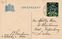 31 Dec 1921  Bk G 163  I   Van  Oldenzaal Naar Leiden - Ganzsachen
