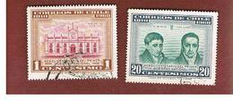 CILE (CHILE)  - SG 512.515 -  1960 150^ ANNIV. 1ST NATIONAL GOVERNMENT (2 STAMPS OF THE SET) -  USED ° - Cile
