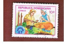 REPUBBLICA DOMENICANA (DOMINICAN REPUBLIC)  - SG 1699  -  1987  CHRISTMAS  - USED - Repubblica Domenicana