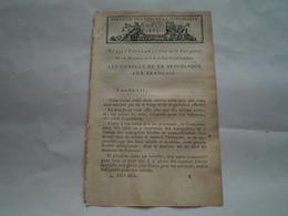Bulletin Des Lois An X : Proclamation Sur La Paix Générale Par Napoleon Bonaparte 1er Consul De La République - Decreti & Leggi