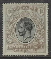 Kenya  1912 King George V 1 R Black SW 51 O Used - Kenya, Uganda & Tanganyika