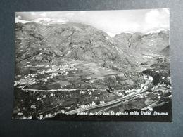 19954) BERGAMO PARRE CON LO SFONDO LA VALLE SERIANA VIAGGIATA RARA - Bergamo