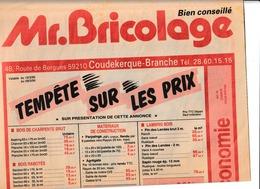 Publicité Mr. Bricolage à Coudekerque Branche Route De Bergues Double Feuille 29x46 - Advertising