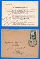 "INVITATION DEDICACEE ""V Seritta"" (nom à Vérifier) à La Commémoration Du 1er Service Postal Par BALLON - 23 SEP 46 - Francia"