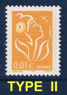 0.01 € MARIANNE DE LAMOUCHE ITVF AU PEU COURANT TYPE II - MAURY 3173 II - 2004-08 Marianna Di Lamouche