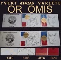 RRR    OR OMIS   - VARIETE  REPERTORIEE YVERT 2015 N°2142 B Non Encore Cotée - Varieties: 1980-89 Mint/hinged