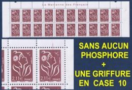 MARIANNE DE LAMOUCHE 2 € 11 N** SANS PHOSPHORE TOTAL En Bloc De 4 - YVERT 3972a - 2004-08 Marianne De Lamouche