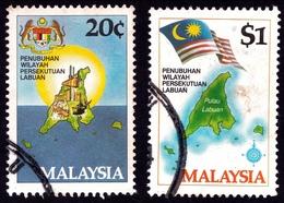MALAYSIA 1984 Labuan Federal Territory 2v Set Sc#275-6 USED (fdc Cancels) @PM083 - Malaysia (1964-...)