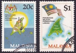 MALAYSIA 1984 Labuan Federal Territory 2v Set Sc#275-6 USED (fdc Cancels) @PM084 - Malaysia (1964-...)