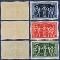 YVERT 850 à 852 N** MNH - Série Complète - 75ème Anniversaire De L'UPU - SCAN RECTO-VERSO = SANSURPRISE - Francia