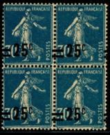 YVERT 217 N** - MNH - 1926 Semeuse 30 Cts X 4 Barres De Surcharge à Cheval - SCAN RECTO-VERSO = SANSURPRISE - Variétés Et Curiosités