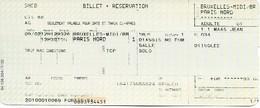 Billet + Réservation - Thalys Bruxelles-Midi - Paris-Nord - Chemin De Fer
