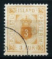 Islandia Nº Servicio-3 (dentado-12 1/2) Usado Cat.25€ - Oficiales