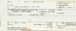 Billet + Réservation - Thalys Bruxelles-Midi - Paris-Nord - Lot De 2 Billets - Chemin De Fer