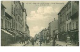 69.VILLEFRANCHE SUR SAONE.N°21811.RUE NATIONALE.PORTE DE BELLEVILLE - Villefranche-sur-Saone