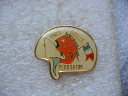 """Pin's De L'Association De Pêche """"Fines Gaules"""" De La Commune De PLOBSHEIM (Dépt 67). Poisson - Associations"""