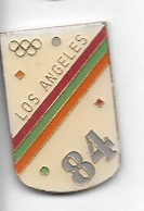 Pin's  Ville, Sport  J.O  LOS  ANGELES   1984 - Jeux Olympiques