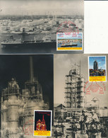 D37702 - 3 CARTES MAXIMUM CARDS FD 1965 NETHERLANDS ANTILLES - OIL REFINERY SHELL CURAÇAO CP ORIGINAL - Pétrole