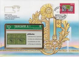 SUISSE - PHONE CARD * RARE *** TÉLÉCARTE & TIMBRE - DOPPELGENF *** - Schweiz