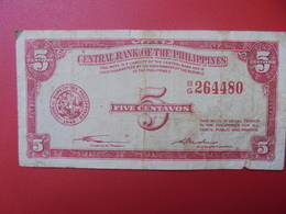 PHILIPINNES 5 CENTAVOS 1949 CIRCULER (B.5) - Philippines