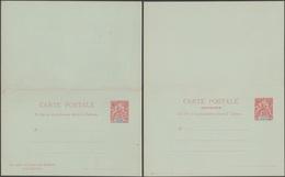 SPM - Saint Pierre Et Miquelon 1898. Carte Postale Avec Réponse Payée, Sans Millésime Sur La Demande. État Parfait - Postal Stationery