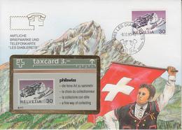 SUISSE - PHONE CARD * RARE *** TÉLÉCARTE & TIMBRE - LES DIABLERETS *** - Schweiz