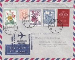 Aérograme 1er Vol Aérien à Réaction Bruxelles Montréal 1/4/1960 - Poste Aérienne