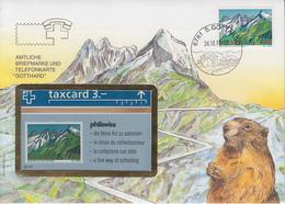 SUISSE - PHONE CARD * RARE *** TÉLÉCARTE & TIMBRE - GOTTHARD *** - Schweiz