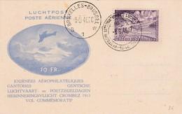 Carte Journée Aérophilatéliques Gantoise 1946 - Poste Aérienne
