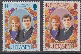Jersey 1986 Royal Wedding 2v ** Mnh (43932B) - Jersey
